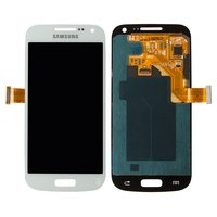 LCD for Samsung I9190 Galaxy S4 mini, I9192 Galaxy S4 Mini Duos, I9195 Galaxy S4 mini Cell Phones, (white, with touchscreen)