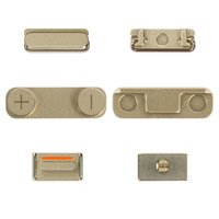 Housing Side Button Plastic for Apple iPhone 5S Cell Phone, (golden, full set)