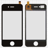 Touchscreen for China-iPhone 4, 4s Cell Phones, (black, capacitive, (112*57mm), 90mm, type 15, (75*50mm)) #CY8C214/D9145