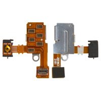 Flat Cable for Sony ST27i Xperia Go  Cell Phone, (start button, headphone connector, with components)
