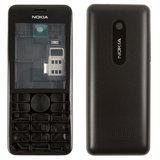 Housing Nokia 206 Asha, (High Copy, black)