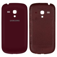 Battery Back Cover for Samsung I8190 Galaxy S3 mini Cell Phone, (wine red)