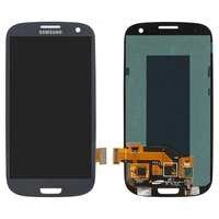 LCD for Samsung I747 Galaxy S3, I9300 Galaxy S3, I9305 Galaxy S3, R530 Cell Phones, (dark blue, with touchscreen)