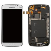 LCD for Samsung I9152 Galaxy Mega 5.8 Cell Phone, (white, with touchscreen, with front panel)