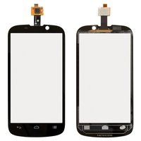 Touchscreen for ZTE N861 Warp Sequent Cell Phone, (black)