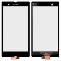 Touchscreen for Sony C6602 L36h Xperia Z, C6603 L36i Xperia Z, C6606 L36a Xperia Z Cell Phones, (black)