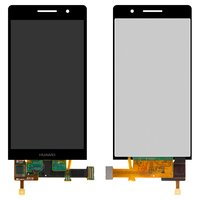 LCD for Huawei Ascend P6-U06 Cell Phone, (black, with touchscreen)