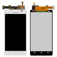 LCD for Huawei HN3-U00 Honor 3 Cell Phone, (white, with touchscreen)