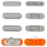 Side Buttons Plastic for Apple iPad Mini 2 Retina Tablet, (full set, silver)