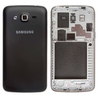 Housing for Samsung G7102 Galaxy Grand 2 Duos Cell Phone, (black)