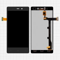 LCD for BLU L240A Life Pure, L240I Life Pure; Fly IQ453; Gionee  Elife E6 Cell Phones, (black, with touchscreen)