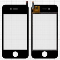 Touchscreen for China-iPhone 4, 4s Cell Phones, (black, capacitive, (113*56 mm), 90mm, type16, (74*51mm)) #SU-YJS X2-IV-FPCV5