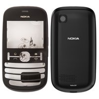 Housing for Nokia 201 Asha Cell Phone, (black, high copy)