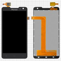 LCD for Pioneer S90W; Prestigio MultiPhone 5044 Duo Cell Phones, (black, with touchscreen)