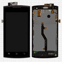 LCD for Prestigio MultiPhone 4500 Duo Cell Phone, (with touchscreen, with front panel)