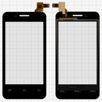 Touchscreen for China-phone U16 Cell Phone, (black, capacitive, (113*61mm), 112 mm)