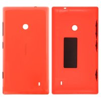 Housing Back Cover for Nokia 525 Lumia Cell Phone, (orange, with side button)