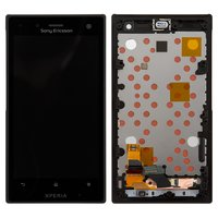 LCD for Sony LT26W Xperia acro S Cell Phone, (black, with touchscreen, with front panel)