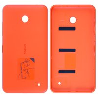 Housing Back Cover for Nokia 630 Lumia Dual Sim Cell Phone, (orange, with side button)