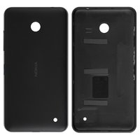 Housing Back Cover for Nokia 630 Lumia Dual Sim Cell Phone, (black, with side button)