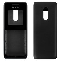 Housing for Nokia 105 Cell Phone, (black, high copy, front and back panel)