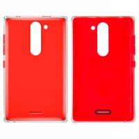 Housing Back Cover for Nokia 502 Asha Dual Sim Cell Phone, (red, with side button)