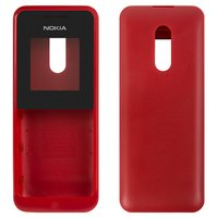 Housing for Nokia 105 Cell Phone, (red, high copy, front and back panel)