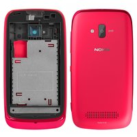 Housing for Nokia 610 Lumia Cell Phone, (red)
