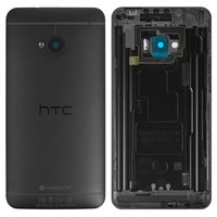 Housing Back Cover for HTC One M7 801e Cell Phone, (black)