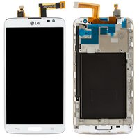 LCD for LG D680 G Pro Lite, D682 G Pro Lite Cell Phones, (white, with touchscreen, with front panel)