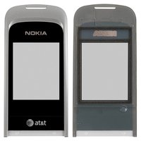 Housing Glass for Nokia 2720f Cell Phone, (black)