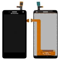 LCD for Lenovo S660 Cell Phone, (black, with touchscreen)