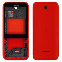 Housing for Nokia 225 Dual Sim Cell Phone, (red)