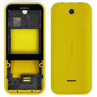 Housing for Nokia 225 Dual Sim Cell Phone, (yellow)