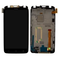 LCD for HTC G23, S720e One X Cell Phones, (black, with touchscreen, with frame)