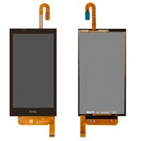 LCD for HTC Desire 610 Cell Phone, (black, with touchscreen)