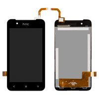 LCD for HTC Desire 210 Dual Sim Cell Phone, (black, with touchscreen)