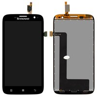 LCD for Lenovo A859 Cell Phone, (black, with touchscreen)