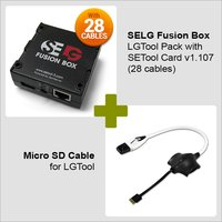 SELG Fusion Box SE Tool Pack with SE Tool Card v1.107  (19 cables)  + Micro SD Cable for LGTool