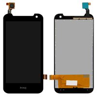 LCD for HTC Desire 310 Cell Phone, (black, with touchscreen, (128*63,5))