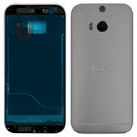 Housing for HTC One M8 Cell Phone, (grey)