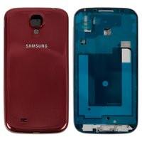 Housing for Samsung I9500 Galaxy S4 Cell Phone, (red)