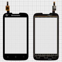 Touchscreen for Lenovo A300T Cell Phone, (black)