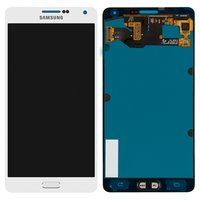 LCD for Samsung A700F Galaxy A7, A700H Galaxy A7 Cell Phones, (white, with touchscreen)