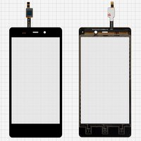 Touchscreen for Fly IQ453 Cell Phone, (black) #1224TCM43E59V2.0 5415K FPC-1