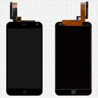 LCD for Meizu M1 Note Cell Phone, (black, with touchscreen)