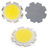 COB LED Chip 7 W (cold white, 650 lm, 28 mm, 300 mA, 21-23 V)