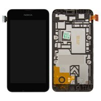 LCD for Nokia 530 Lumia Cell Phone, (black, with touchscreen, with frame)