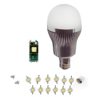 LED Light Bulb DIY Kit SQ-Q32 12 W (warm white, E27)