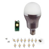 LED Lamp DIY Kit SQ-Q32 12 W (cold white, E27)